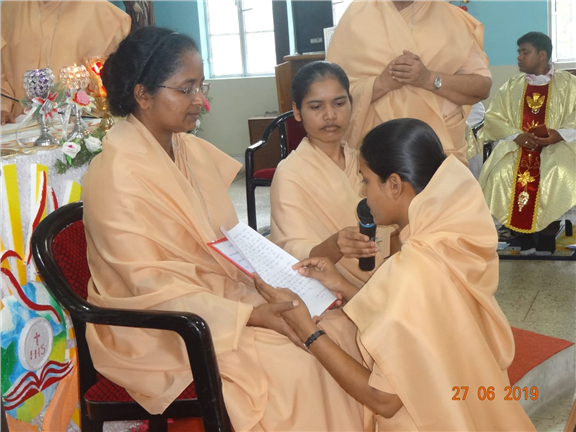 Final commitment of Srs. Sonia, Sophia, Premshila and Luciana